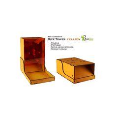Torre de Dados Amarilla  Torres de dados de Bandua perfecto para nuestros juegos de mesa. Con un nuevo diseño para transportar y guardar de forma más fácil. Creado en alta calidad y prepintado, elige tu color preferido.