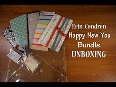 The Erin Condren Happy New You Bundle Unboxing - YouTube