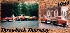 Good Morning!   It's #ThrowbackThursday 1984 Style!!!   Pictured: Owner, Jerry Guzzo Sr with his Car & Work Trucks from the 80's!   #Throwback #TBT #Thursday #GuzzoStucco #Owner
