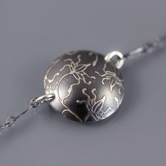 Sterling Silver Vine Flower Necklace by lisahopkins on Etsy, $49.00