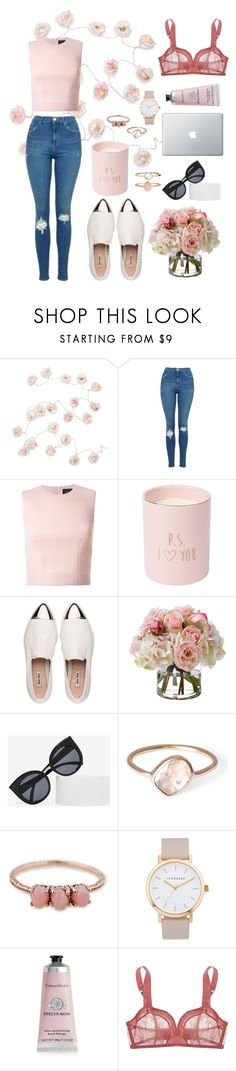 """""""Untitled #35"""" by annaharbottle1999 ❤ liked on Polyvore featuring Talking Tables, Topshop, Simone Rocha, Miu Miu, Diane James, Quay, Parisi, The Horse, Therapy and Monette"""