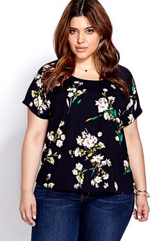 Botanical Floral Woven Top | FOREVER21 PLUS - 2000073360