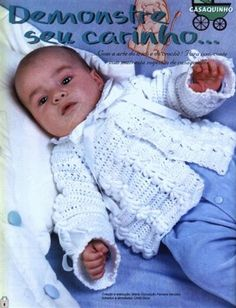 bebê - Raquel - Álbuns da web do Picasa Crochet Books, Crochet Poncho, Baby Art, Baby Sweaters, Crochet For Kids, Crochet Clothes, Christening, Baby Knitting, Children