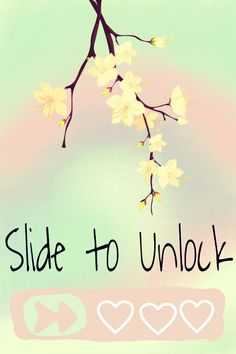 Slide to unlock background photo