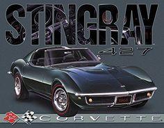 Corvette - 1968 Stingray Tin Sign 16 x 13in