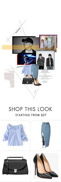 """""""175...Gaeko..."""" by shusu91 ❤ liked on Polyvore featuring WithChic, storets, The Cambridge Satchel Company, Christian Louboutin, rapper, dynamicduo, gaeko and AmoebaCulture"""