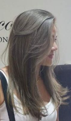 Ash brown hair...I like this cut but I think the lighting makes the color look dull …