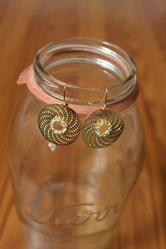 NEW WEB ARRIVAL!!  Circle Bling Earrings, $8.75 Also available in silver.  Purchase here > http://www.shoppage6.com/products/circle-bling-earrings