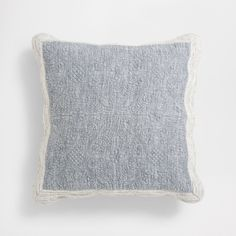Image 1 of the product MARL-EFFECT QUILT AND CUSHION COVER WITH CONTRASTING SCALLOPED EDGE