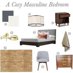 Cozy Masculine Bedroom by housetweaking, via Polyvore