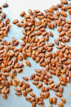 Salted Candied Almonds - a great pre-Thankgsiving snack