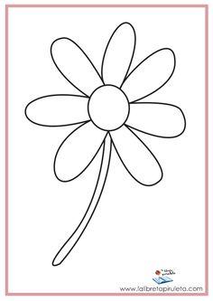 fichas para imprimir y colorear, infantil y primaria, naturaleza, primavera, flor