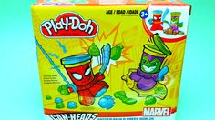 Marvel Play-Doh Can Heads - Spider Man & Green Goblin