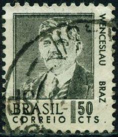 Resultado de imagem para selo de Venceslau Brás Pereira Gomes