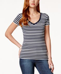Tommy Hilfiger Striped Short-Sleeve Top