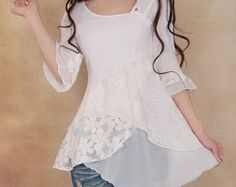 Mori Girl seems more fitted than Lagenlook, but this could swing both ways. Sewing Clothes, Diy Clothes, Clothes For Women, Look Fashion, Fashion Outfits, Womens Fashion, Casual Outfits, Cute Outfits, Altered Couture