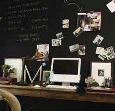 I quite desperately want a blackboard wall. I first saw the concept in the movie 500 Days Of Summer and I was really inspired :)