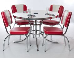 HomeOfficeDecoration | Retro kitchen chairs and tables