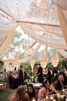 wedding tent Luxury Garden Wedding in Winter Park, Florida at Casa Feliz Wedding Reception Decorations, Wedding Ceremony, Wedding Venues, Wedding Draping, Reception Ideas, Wedding Tent Lighting, Outdoor Tent Wedding, Aisle Decorations, Tent Reception