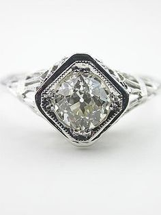 My engagement ring will be art deco. Fun and non-traditional. That's my style.