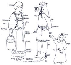 This is what a man(a Viking), women, and child would wear in the Viking time.