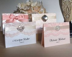 Lace Place Cards by PAPER & LACE