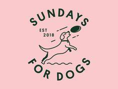dog icon Sundays For Dogs badge illustration icons typography startup brand identity branding brand dog Pet Branding, Startup Branding, Corporate Branding, Identity Design, Brand Identity, Logo Inspiration, Dog Logo Design, Design Design, Graphic Design