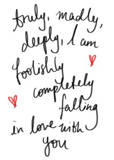 Truly Madly Deeply by One Direction lyrics Best Love Quotes, Love Quotes For Him, Quotes To Live By, One Direction Fotos, Direction Quotes, Perfect One Direction Lyrics, Quotes Gif, Lyric Quotes, Crush Quotes