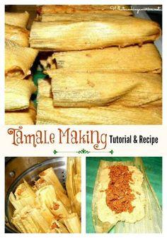 Tamale Recipe - Carnita Recipe -   How To Make Perfect Homemade Tamales - Tamale Making Photo Tutorial