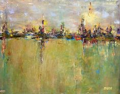Urban Reflection, painting by Kathy Stiber