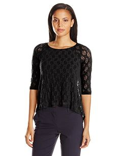 Only Hearts Womens Stretch Lace Raglan Boat Neck Lined Black Small -- You can get additional details at the image link.(This is an Amazon affiliate link and I receive a commission for the sales)