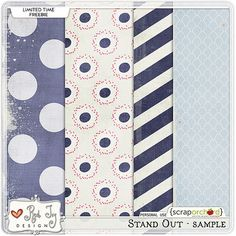 Quality DigiScrap Freebies: Stand Out paper pack freebie from Red Ivy Design