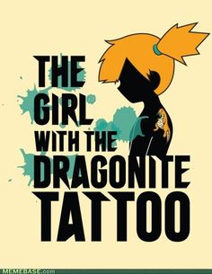 Nice Pokemon / Girl With The Dragon Tattoo crossover fanart