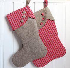 Diy Christmas Stocking Pattern, Christmas Diy, Christmas Decorations, Holiday Decor, Kids Stockings, Christmas Stockings, My Favorite Things, Stocking Ideas, Holidays