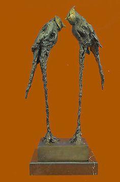 Collector Numbered Edition Original Abstract Modern Art Parrots Bronze Sculpture