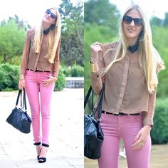Pink and camel (by Marta M) http://lookbook.nu/look/3482163-Pink-and-camel