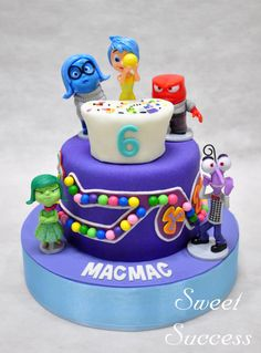 Inside Out Cake Cupcakes - Cake by Sweet Success Cake Icing, Eat Cake, Cupcake Cakes, Fancy Cakes, Cute Cakes, Inside Out Party Ideas, Inside Out Cakes, Disneyland Birthday, Different Kinds Of Cakes