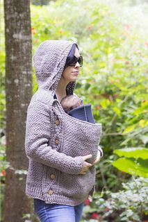 Cabled Jacket Chameleon Style. This is such an awesome baby-wearing sweater…