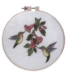 Dimensions Counted Cross-Stitch Kit Learn-A-Craft Hummingbird Duo
