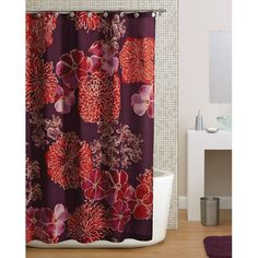 tan striped shower curtain. Hometrends Watercolor Floral Shower Curtain  Purple Black and White Striped shower curtains