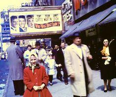 Times Square (1960) Curtis Martin, Times Square, Broadway Shows, Fur Coat, New York, Nyc, Vintage, Fashion, Moda
