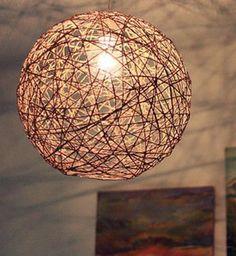 Cadeau DIY : un abat-jour boule