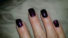 Purple, but one finger is dark purple