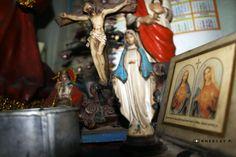 Mama Mary and Jesus.
