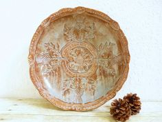 Ceramic Bowl with Thistle Flowers by MyMothersGarden