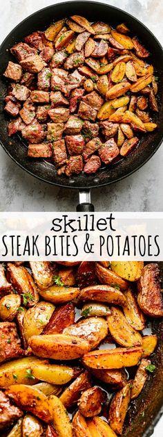 Quick Dinner Recipes, Quick Meals, Healthy Steak Dinners, Easy Dinners, Easy Skillet Meals, 30 Minute Dinners, Skillet Recipes, Dinner Healthy, Special Recipes