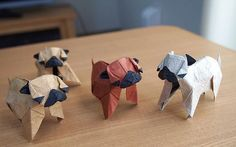 Origami Pugs I will learn to have these everywhere I go