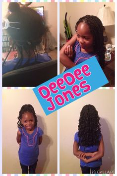 Singles/box braided for a little girl