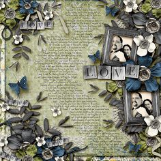 Love Poems - Scrapbook Layout using:    Shabby Love: Sweet Deal by LDrag Designs