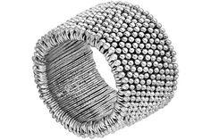 Bracelet Myri Bis plaqué argent, Ø55mm Metal Pointu's